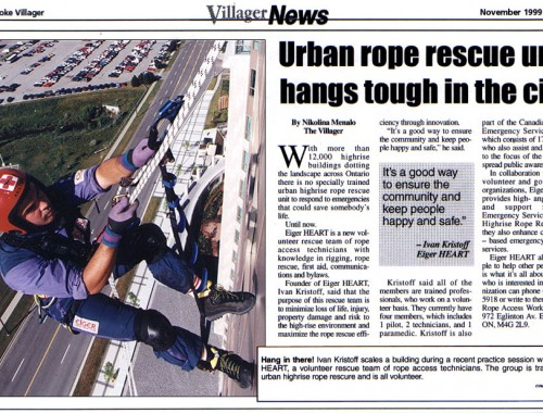 illager News: Urban rope rescue unit hangs tough in the city