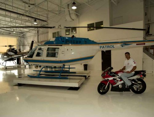 Eurocopter AS 355 f1 Helicopter and Bell heli Moto Rescue