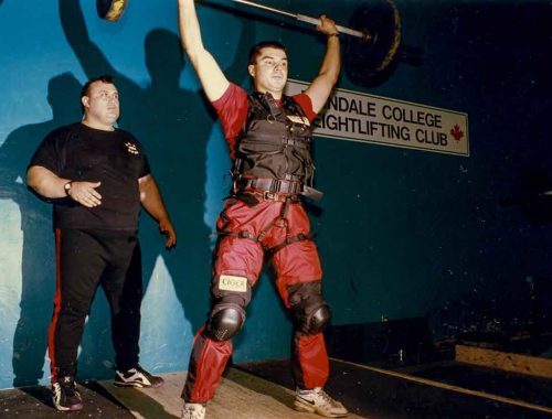 """#Specialized #powerlifting #training at the #Erindale #College at the #UofT with Antonio Krastev, two-time #world #weightlifting #champion. He was called the """"strongest man on the planet"""" by Power Lift magazine after lifting 476 pounds in 1987, setting a #worldrecord that remained unbeaten for nearly 30 years."""