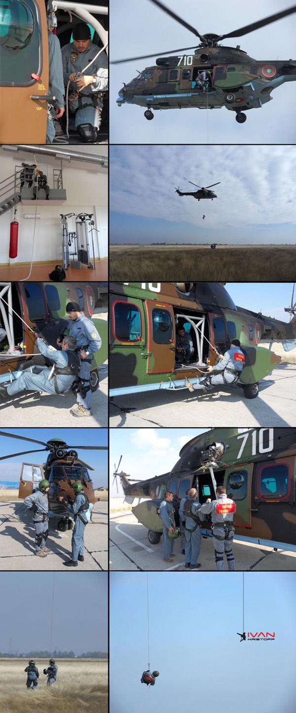 """Иван Кристоф приключи успешно своя първи полет на борда на френския военен хеликоптер """"Кугър"""""""