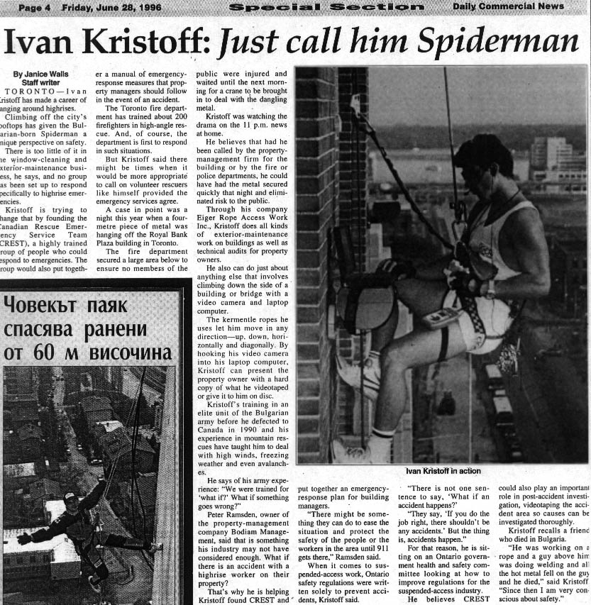 Ivan Kristoff: Just call him Spiderman