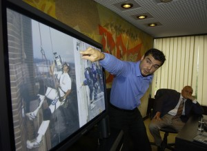 Boiiko Borisov with Spiderman