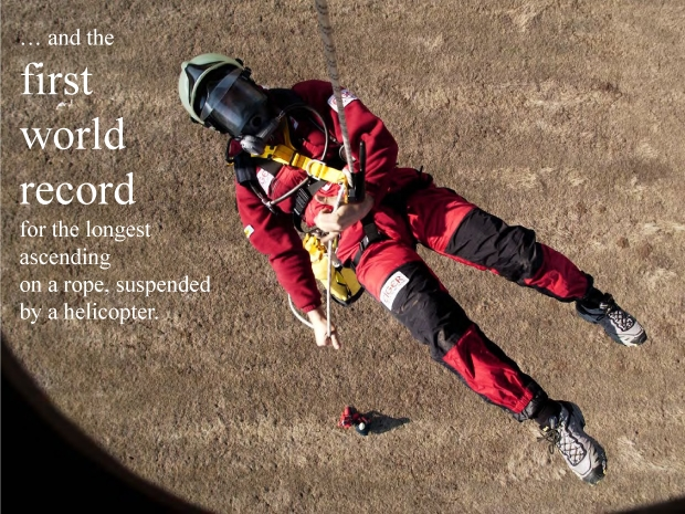 world's first record for rappelling form a helicopter