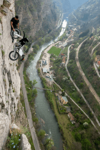 No Rope Access with Motorcycle
