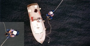Aerial Rope Access Descend on Boat
