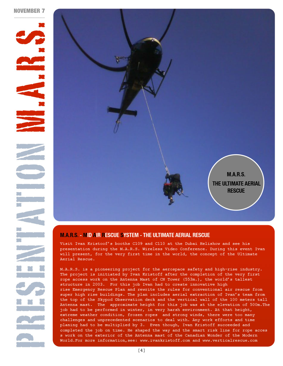M.A.R.S. - MID AIR RESCUE SYSTEM - THE ULTIMATE AERIAL RESCUE