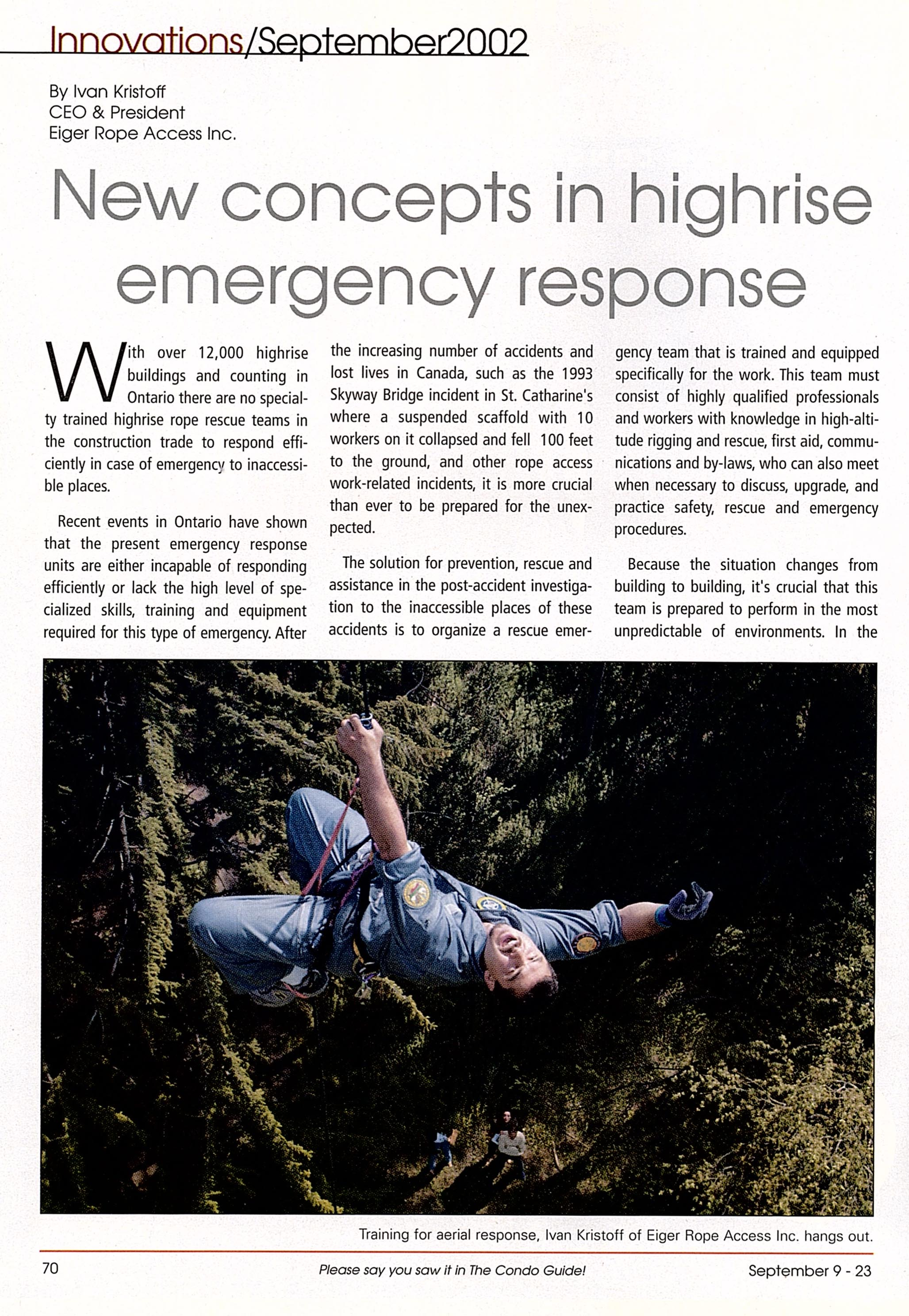 NEW concepts in highrise emergency response