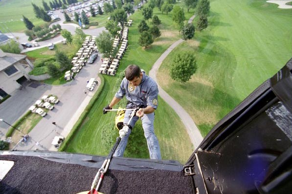 Airbus helicopter Rappelling