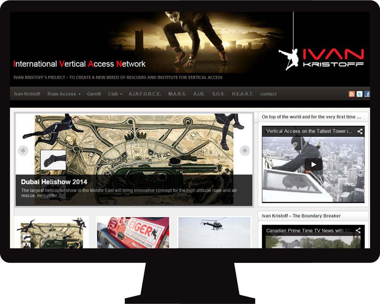 Web design for Aerial Rescue