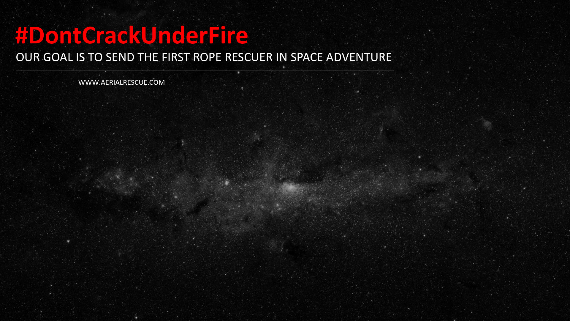 FIRST ROPE RESCUER IN SPACE ADVENTURE