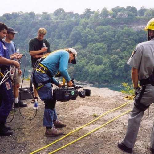FIlming over Niagara Falls with Ney York State Park Police