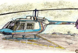 Helicopter Drawing