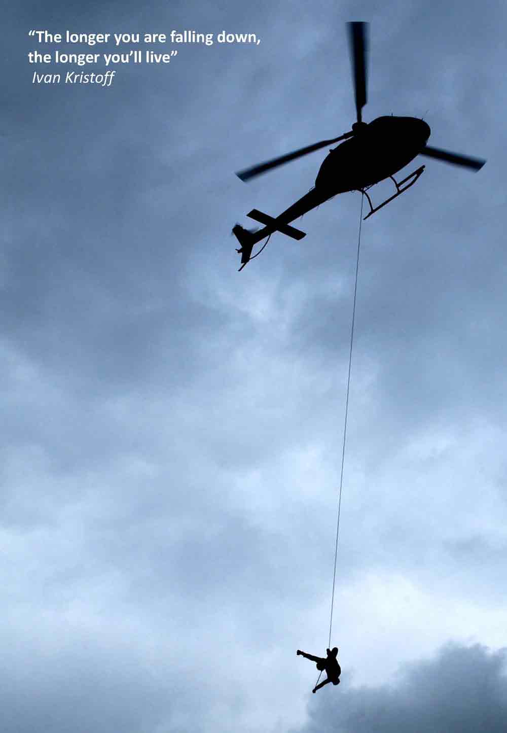 Helicopter rapppelling