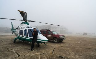 AugustaWestland A 109 Police Boreder Patrol medical helicopter with whinch cabel system